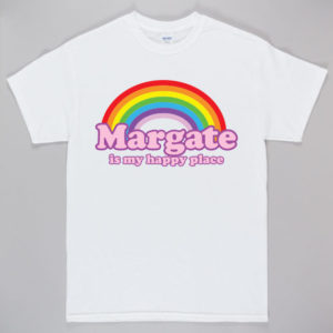 Unofficial Margate Happy Place T-Shirt White